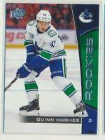 2019-20 Upper Deck UD NHL Rookie Box Set 14 Quinn Hughes Vancouver Canucks
