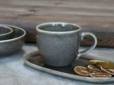 Speckled Grey Calais Stoneware Mug w/ Handle, Ceramic Rustic Coffee Tea Cup