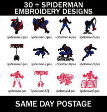 30 + Spiderman bordado a máquina Pes diseño de imágenes de CD (Entrega UK LIBRE)
