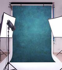 Gradient Dark Blue Photography Backgrounds 5x7ft Vinyl Solid Photo Backdrop Prop