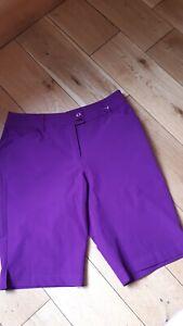 Ladies Callaway Purple Golf Shorts UK 8 - New