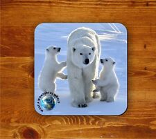 Polar Bears coaster - What a wonderful world