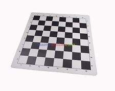 "New Vinyl Chess Board 14"" x 14"" Black Square 1.5 Inch Easily Rolls Up Storage"