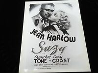 Jean Harlow Photograph 1930's Movie Star Poster Collectible Cary Grant