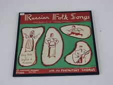 "Russian Folk Songs 10"" LP Folkways Records FP 820 Songs Dances Central Russia"