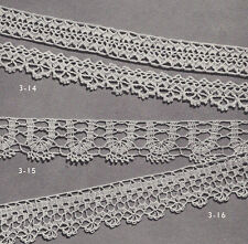 Vintage Crochet PATTERN to make 3 Fine Lace Edging Designs Bands Insertions