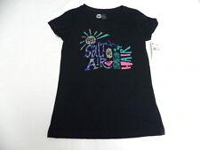 Roxy Girls Salt In Air Ht T-Shirts Sz 10 Medium Tee New Black