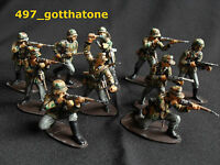 airfix 1/32 professionally painted German camouflaged infantry  ww2. 54mm.