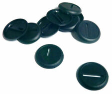 40 (Forty) 30mm Lipped Round Bases for Wargaming Roleplaying Black Plastic NEW
