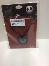 nightmare before christmas Shaker Necklace - Black Metal Heart Charms NIP