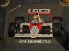 Ayrton Senna/Mclaren - Adelaide Australian G. P. Poster & Stickers & Pamphlets