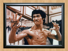 Bruce Lee Enter The Way of Dragon Signed Autographed A4 Print Poster Movie Film