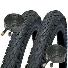 2x Schwalbe Made Impac Crosspac 700 x 38c Cyclocross Bike Tyres Schrader Tubes