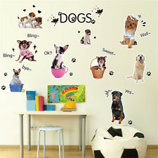 Animals Pet Dogs Home Décor Decor Removable Wall Stickers Decals Decoration