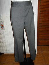 Pantalon fluide habillé polyester/viscose gris stretch CAROLL 40fr  17JA9