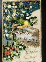 Vintage Postcard>1910>Christmas Greetings