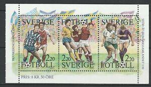 Sweden 1988 Football MNH Block