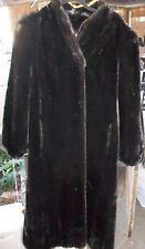 American Signature Sable Women's Faux Mink Full Length Fur Coat Size 2XL NICE!