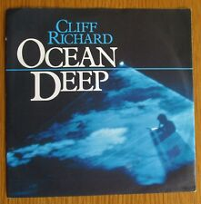 """CLIFF RICHARD Ocean Deep ORIGINAL 1983 UK 7"""" VINYL SINGLE IN PICTURE SLEEVE EX"""