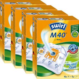 4 Original SWIRL M 40 Pro Nature Green / 16 Staubsaugerbeutel / für Miele...