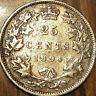 1894 CANADA SILVER 25 CENTS QUARTER COIN - Nicer example!