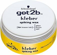 (66,53 €/ L) 75ml Schwarzkopf Got2b Adhesive Spiking Wax For & Shapes Hold 6