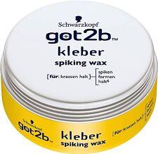 (66,53€/L) 75ml Schwarzkopf got2b Kleber spiking wax zum spiken & formen halt 6