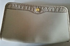 Christian Dior Cosmetic Bag LARGE Travel Clutch Canvas Beauty Toiletry Purse