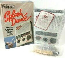 ✰Pollenex SPLASH DANCE AM/FM Water Resistant Shower Radio- New w/ 9 Volt- 1980s✰