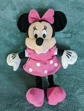 "Disney Minnie Mouse Plush Pink Polka Dot Outfit Soft 11"""