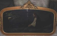 """1940 Vintage Ornate Gold Gilt Picture Frame """"Jesus Christ On Mount Of Olives�"""