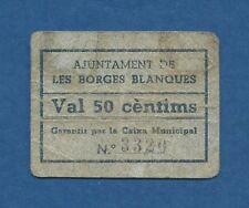 AJUNTAMENT DE LES BORGES BLANQUES -- 50 CENTIMOS SIN FECHA -- BC -- 3ª EMISION .