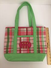 Ame & Lulu Fairway Tote Green And Pink Plaid