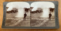 Black Growler Geyser Spray – Yellowstone Park U.S.A. – 1904 Stereoview Slide
