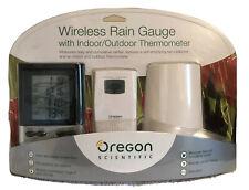 Oregon Scientific Wireless Rain Gauge With Indoor / Outdoor Thermometer Nip