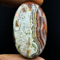 Cts. 57.90 Natural Laguna Lace Agate Cabochon Oval Cab Exclusive Loose Gemstone