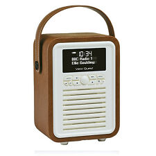 Viewquest Retro Mini DAB+ FM Radio Bluetooth Speaker System With Aux-In Brown