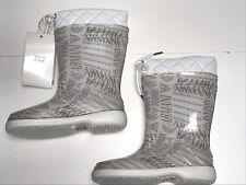 ARMANI New Girls Kids LOGO CLEAR RAIN BOOTS 24 Eu / 7.5 US RTL: $140 SE549 O118