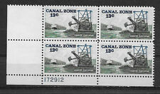 CANAL ZONE , 1976 ,  13c PLATE BLOCK OF 4 STAMPS , PERF , MNH