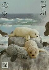 KNITTING PATTERN Adult and Baby Seal Soft Toys Luxe Fur KNITTING PATTERN 9023