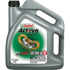 Castrol Actevo X Tra 4T Synthetic Blend Motorcycle Oil - 10W40 - 1 Gallon