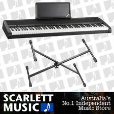 Korg B1 88 Note Digital Piano Black w/ X-Braced Stand + 3 Years Warranty **NEW**
