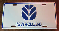 Vintage New Holland Agriculture Official Farm Vanity metal License Plate Sign