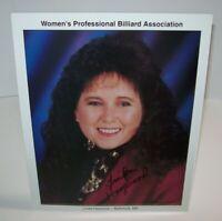 Linda Haywood Professional Billiard Signed Autograph Photo Women's Pool Vintage