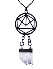 Restyle Geometry Crystal Hanger Halsketting Pendant Necklace Gothic Occult