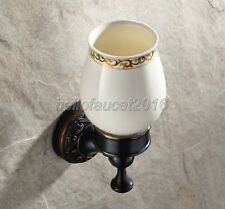Oil Rubbed Bronze Wall Mounted Bathroom Toothbrush Holders Ceramic Cup