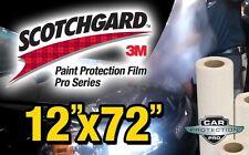 "12""x 72"" 3M Scotchgard PRO SERIES Paint Protection Film Bulk Clear Bra Strip"