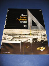 1960's Crane Catalog Conco Engineering Custom Equipment