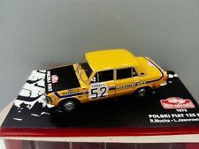 COCHE RALLYE MONTE CARLO 1972- POLSKI FIAT 125 P . ESCALA 1/43