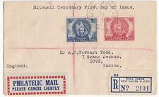 AUSTRALIE; 1946, SG 216 - 217 Set sur Dora Creek Registered FDC pour GB